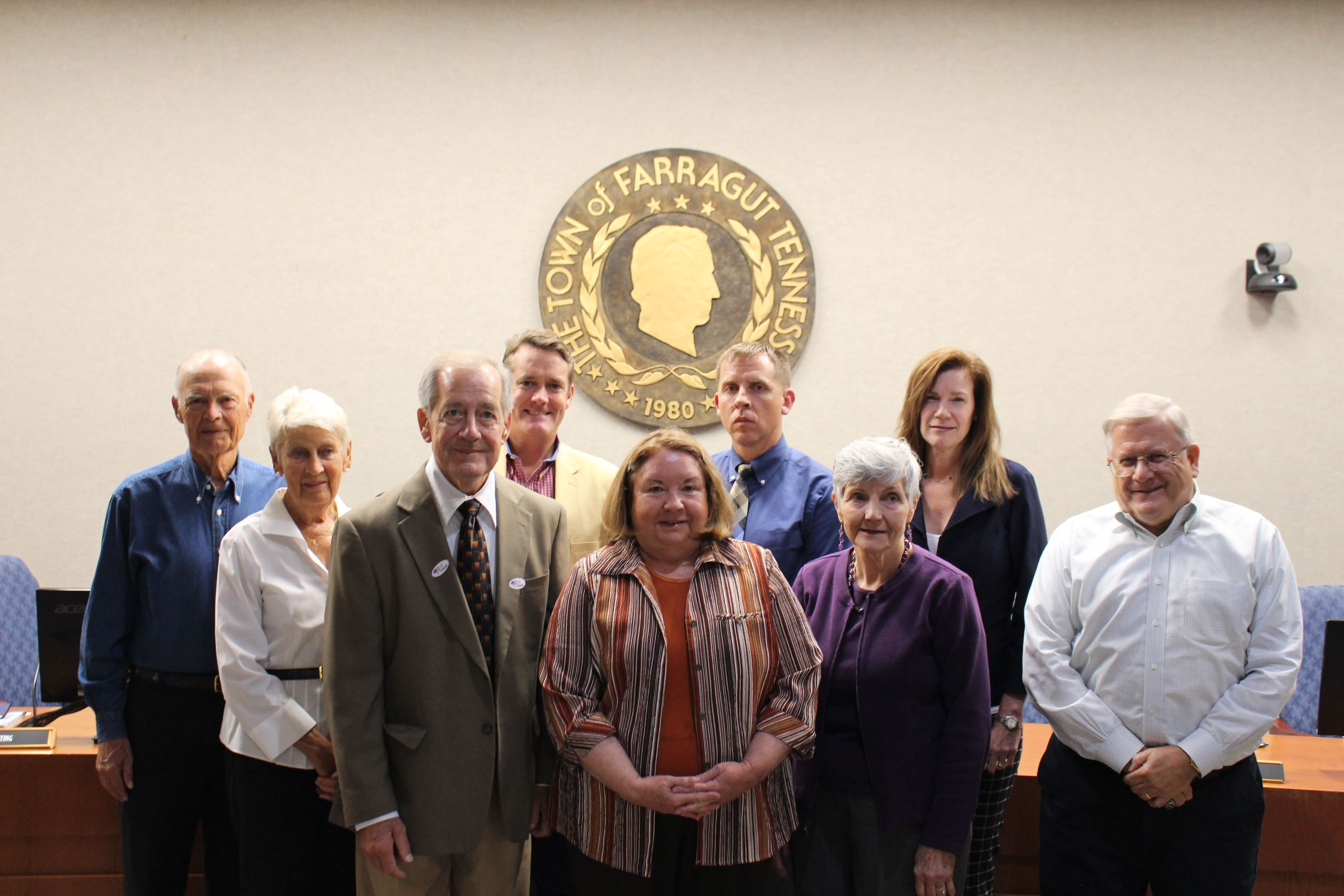 Photograph of the 2016 Farragut Municipal Planning Commissioners